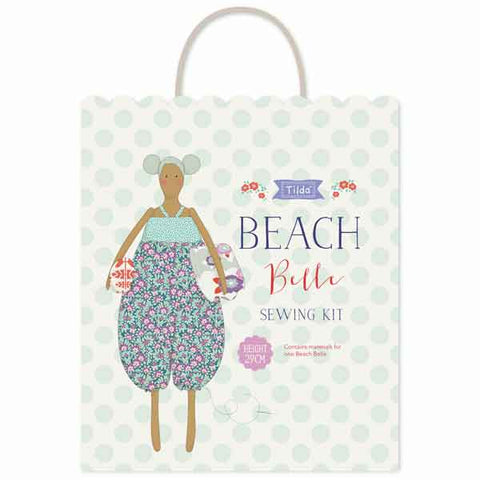 Tilda Beach Belle Sewing Kit, Tilda Lazy Days Soft Doll Kit, Tilda 500016 - Fabric and Ribbon