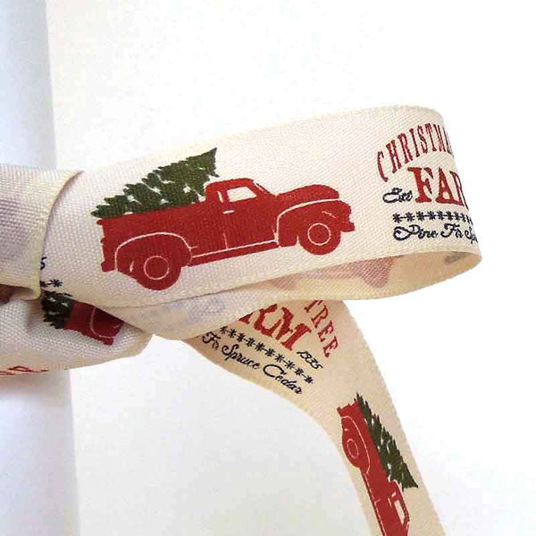 25 mm Christmas Tree Farm Ribbon by Berisfords