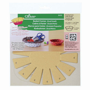 Basket Frames by Clover 8422, Small Oval Basket Frame to Make Your Own Basket, Kid's Easy Craft Kit - Fabric and Ribbon