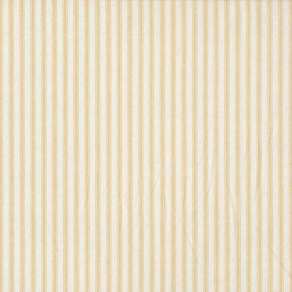 Cream Ticking Stripe Fabric, Beige and Cream Striped Cotton Fabric by Makower