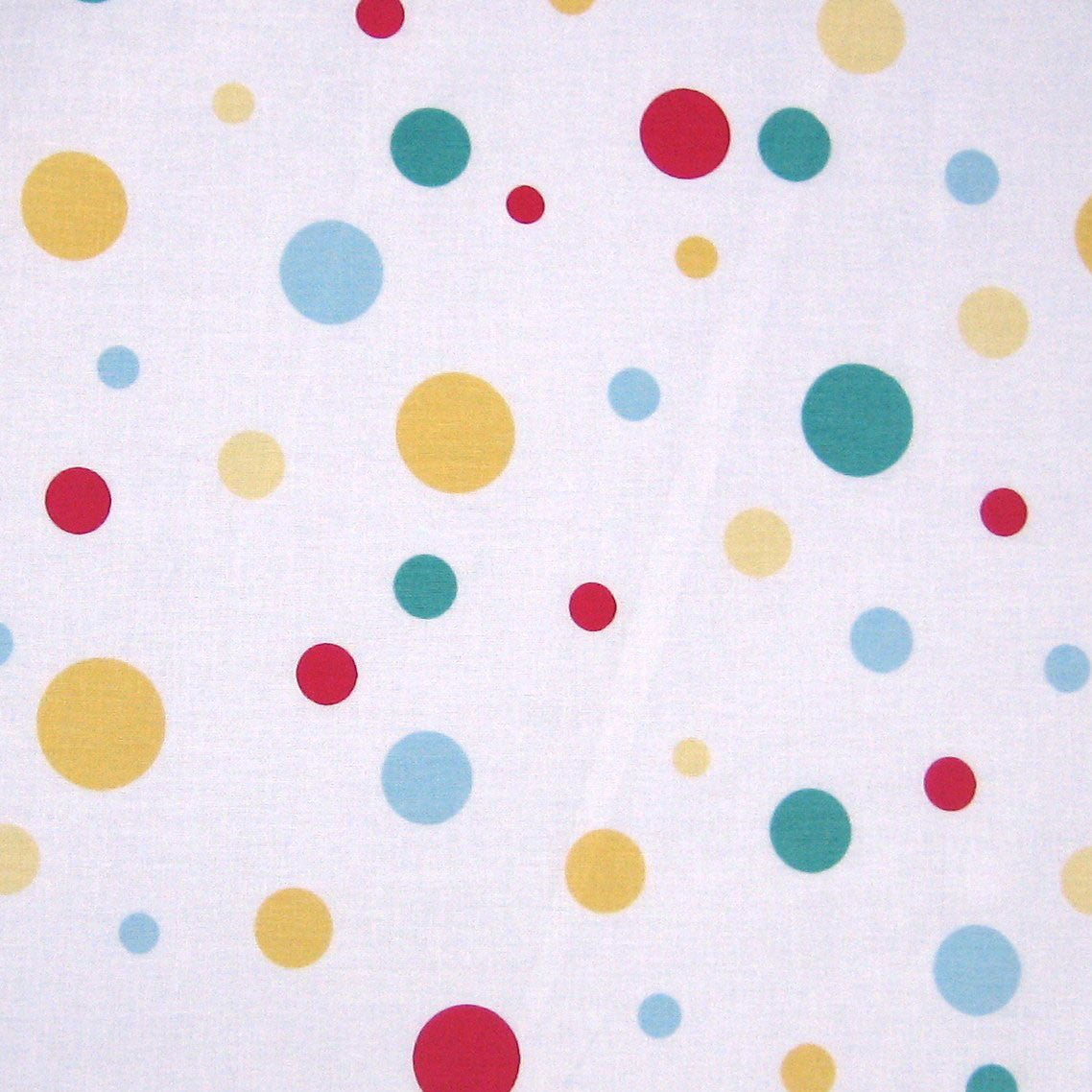 Blowing Bubbles Yellow Red Spots Cotton Durnishing Fabric by Clarke and Clarke (aka Globaltex)