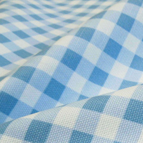 Lavender Gingham Furnishing Fabric by Clarke and Clarke, Summer Breeze and Vintage Classics Collections