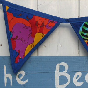 Blue Alphabet Animals Bunting