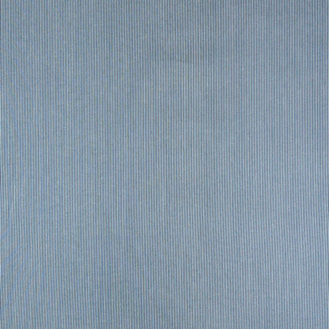 Blue Stripe Fabric, Dark Blue and White Narrow Striped Cotton Fabric 6048/B by Andover Fabrics