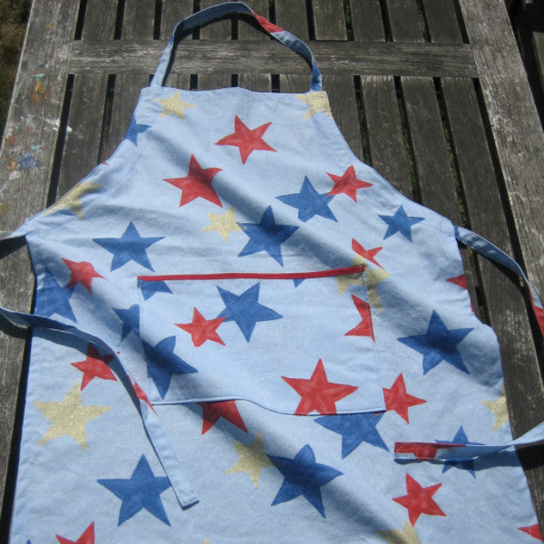 Blue Stars Child's Apron