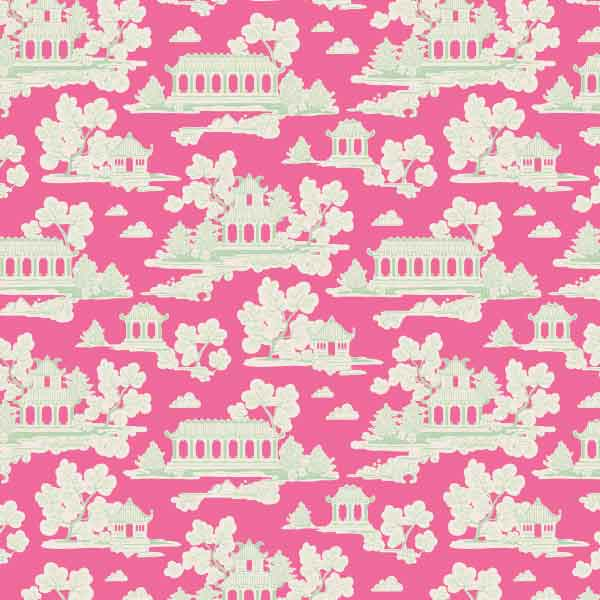 Tilda Sunny Park Pink Cotton Fabric, Bumblebee Collection, Tilda Fabric 481302 - Fabric and Ribbon