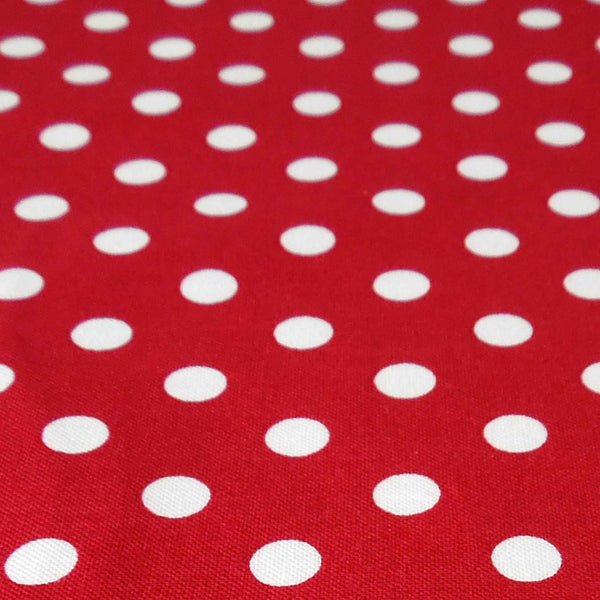 Burgundy and White Polka Dot Cotton Fabric - Fabric and Ribbon