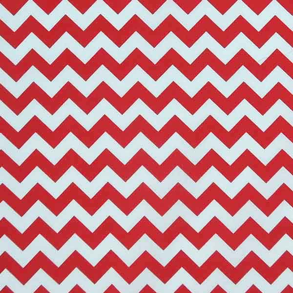 Coloured Chevron Fat Quarter Bundle by Rose & Hubble, 4 Red, Blue and Pink Chevron Fat Quarters - Fabric and Ribbon