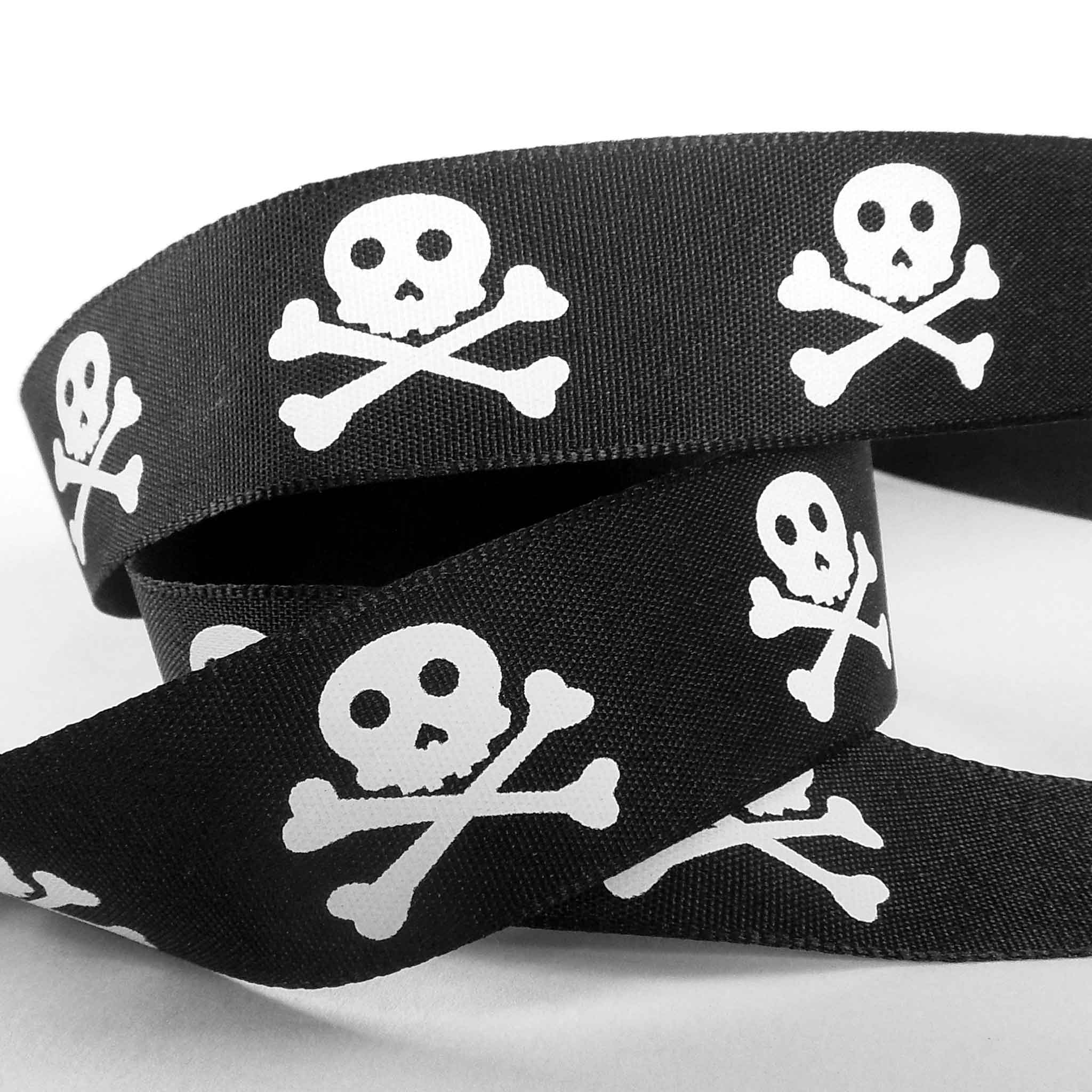 25 mm Skull and Crossbones Pirate Ribbon by Berisfords