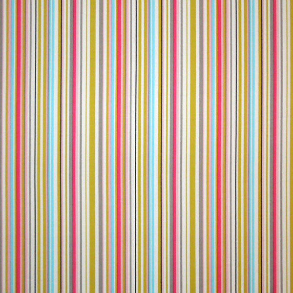 Pink and blue striped fabric