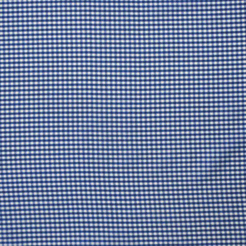 Dark Blue Gingham Fabric, Blue and White Checked Cotton Fabric, 3 mm check cotton fabric
