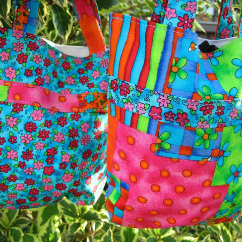 Dazzle Cotton Handbag handmade and fully lined, Kid's Mini Tote Bag