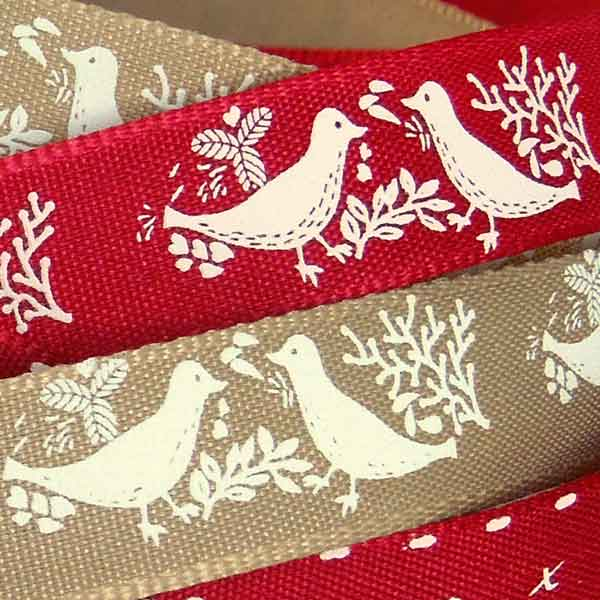 15 mm Turtle Dove Dark Red Ribbon by Berisfords