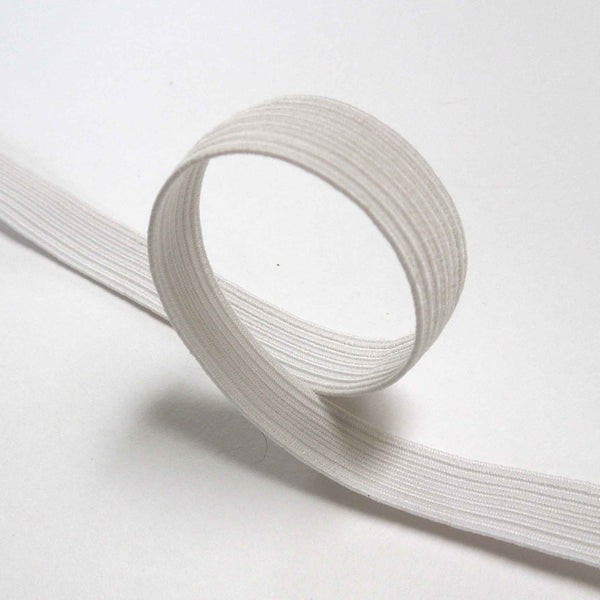 10 mm White Flat Elastic for Face Masks, Sewing and Crafts, 3/8 inch White Elastic