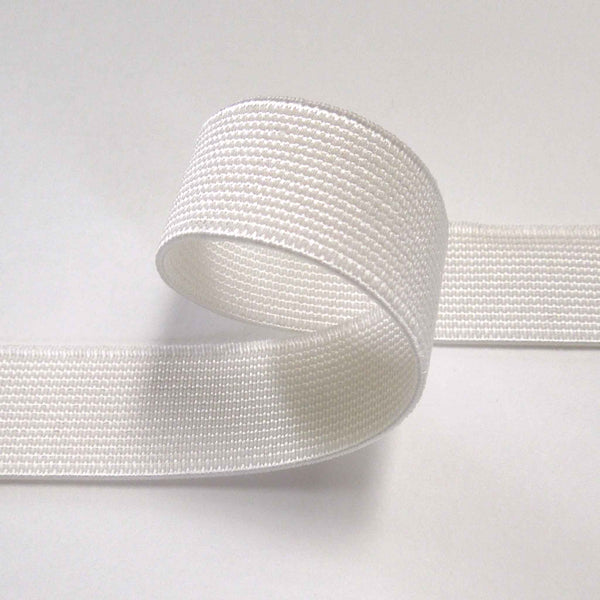 19 mm Black or White Flat Elastic for Face Masks, Sewing and Crafts, 3/4 inch Flat Elastic