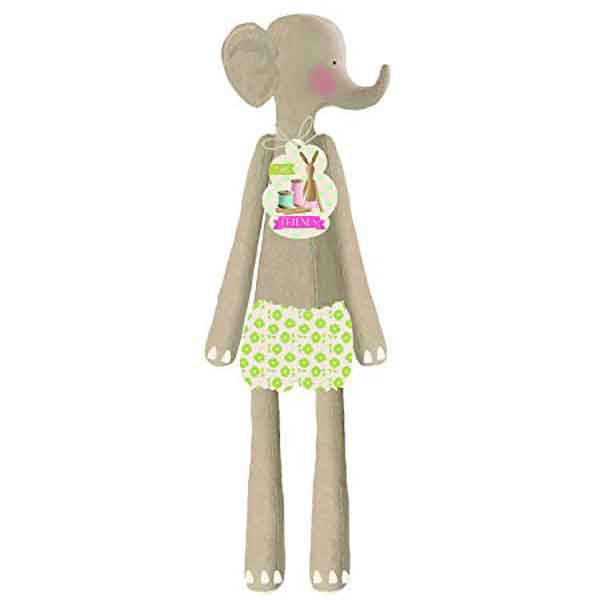 Tilda Elephant Toy Kit, Tilda Harvest Friends Ready Made Soft Elephant Body, Fabric Rag Doll Gift