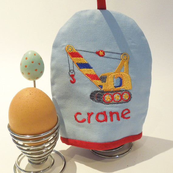 Embroidered Crane Egg Cosy
