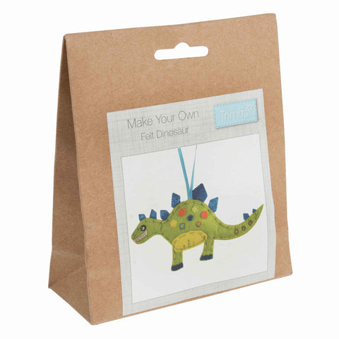 Felt Dinosaur Kit, Make Your Own Dinosaur, GCK082 - Fabric and Ribbon