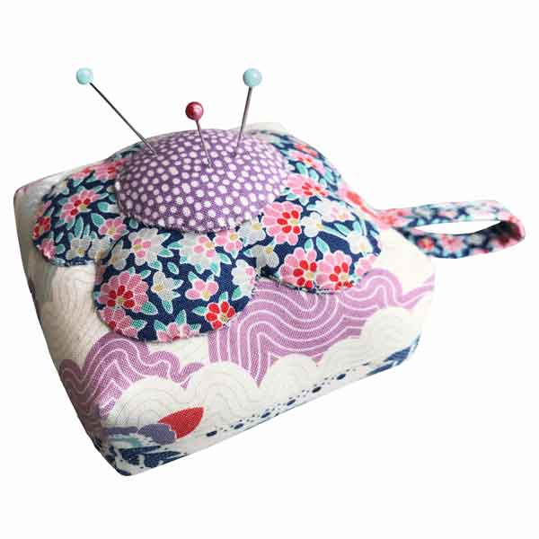 Tilda Flower Pincushion Mini Craft Kit, Tilda Lazy Days Pincushion Kit, Tilda 500018 Sewing Kit - Fabric and Ribbon