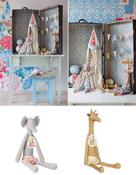 Tilda Harvest Friends Giraffe Toy Kit, Ready Made Soft Giraffe Body, Fabric Rag Doll Gift - Fabric and Ribbon
