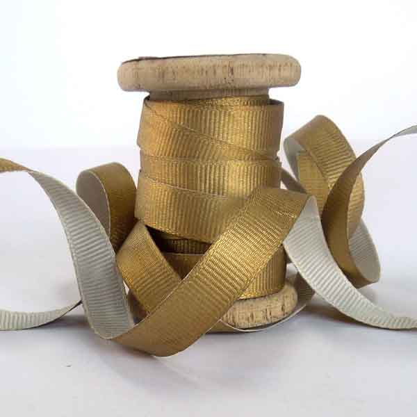 Gold Ribbon on Wooden Spool