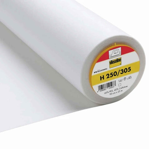 Vilene H250/305 White Firm Iron On Fusible Interfacing