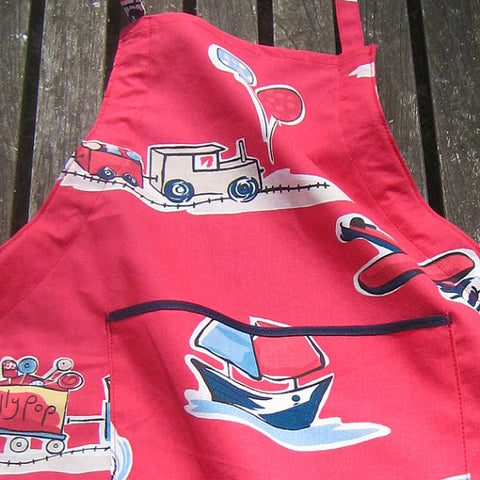 Red Vintage Toys Personalisable Child's Apron