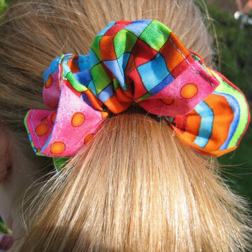 Gorgeous dazzling colourful scrunchies from Fabric and Ribbon