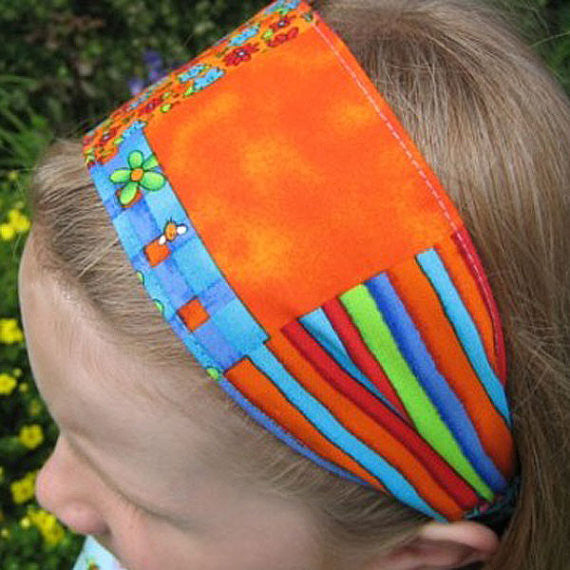 Vibrantly coloured hairbands from Fabric and Ribbon