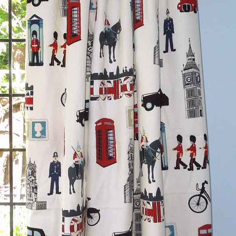 London Cotton Furnishing Fabric by Prestigious Textiles, London Capital Cotton Furnishing Fabric