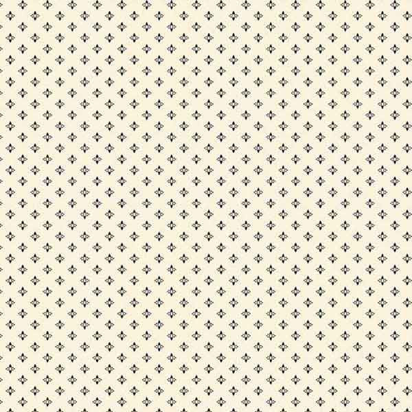 Cream with Small Black Motifs by Andover Fabrics for Makower, Pure Cotton Cream Fabric for patchwork and crafts