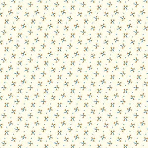Cream Floral Fabric, Cream with Flower Sprigs 7824 by Andover Fabrics