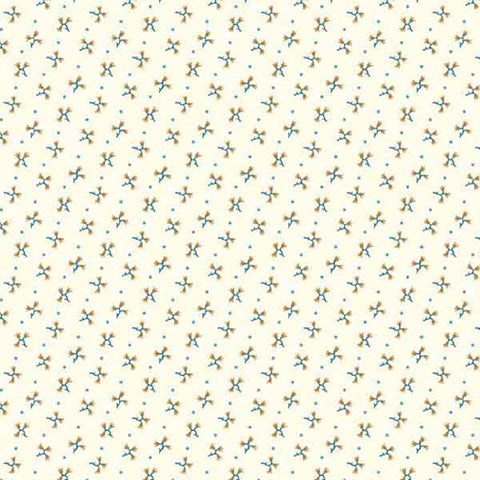 Flower Sprigs on Cream Cotton Fabric by Andover Fabrics 7824 from their Mill Run Shirtings Collection