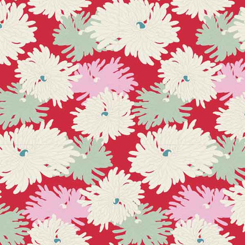 Tilda Minnie Red Cotton Fabric, Cottage Collection, Tilda Fabric 481512