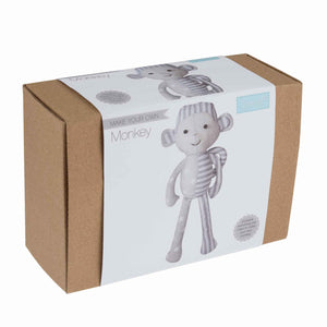Silver and Grey Monkey Kit, Make Your Own Monkey Sewing Kit,  Kid's Complete Monkey Craft Kit