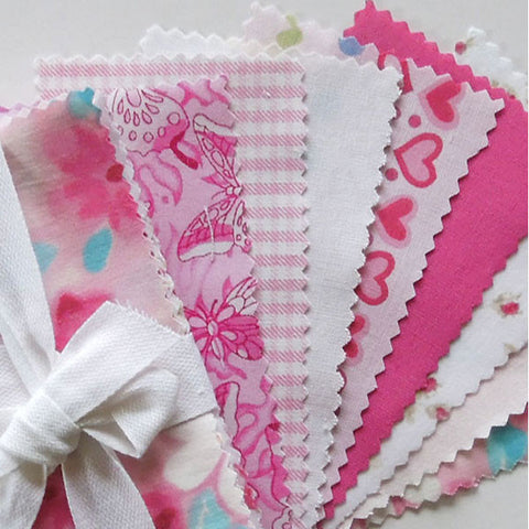 Pink Mini Charm Fabric Pack