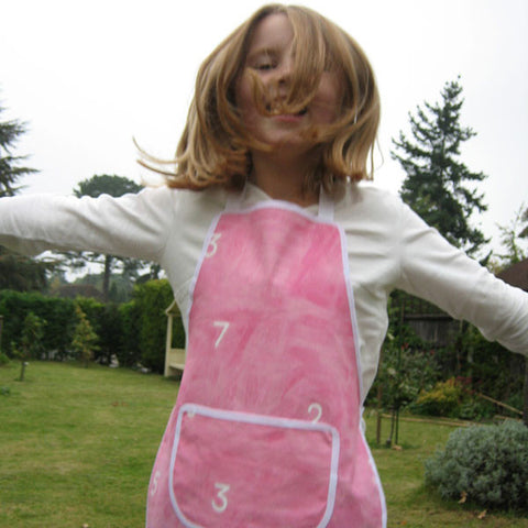Pink Numbers Child's Apron