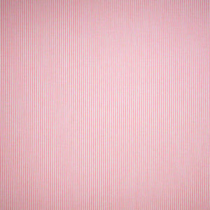 Pink and white fine striped fabric