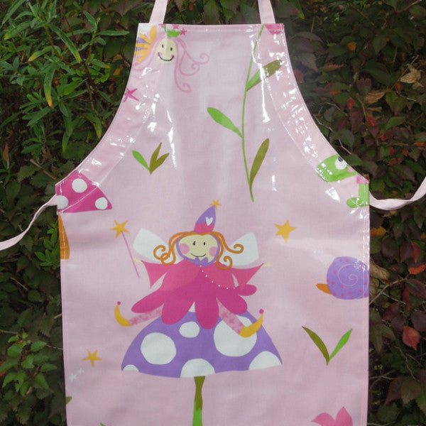 Girl's Pink Oilcloth Apron