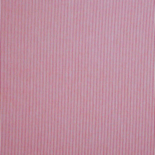 Fine red and white striped fabric