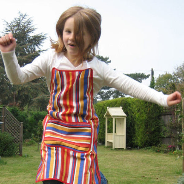 Red Stripy Child's Apron
