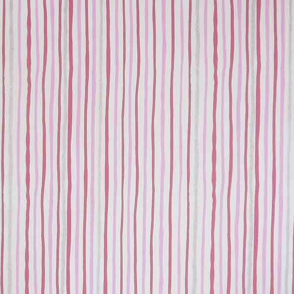 Pink and Silver Striped Shimmer Furnishing Fabric by Clarke and Clarke (Globaltex), All At Sea Collection - Fabric and Ribbon