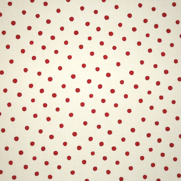Sail Away Red on Cream Polka Dots Fabric by Henry Glass