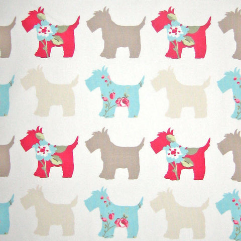 Scottie Dog Furnishing Fabric by Clarke and Clarke