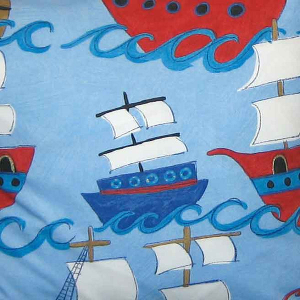 Kid's Pirate Galleons Furnishing Fabric by Clarke and Clarke (Globaltex), All At Sea Collection