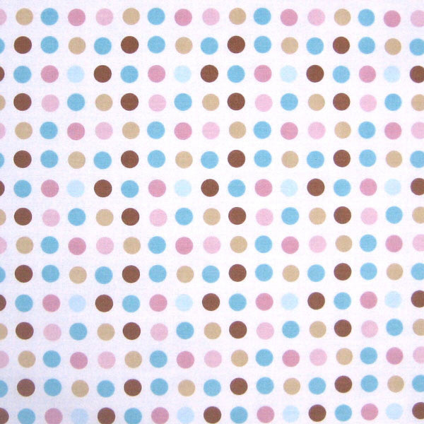 Sky Chocolate Spots Fabric by Globaltex