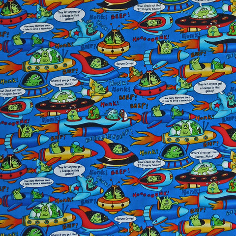 Spaceship Fabric by Timeless Treasures