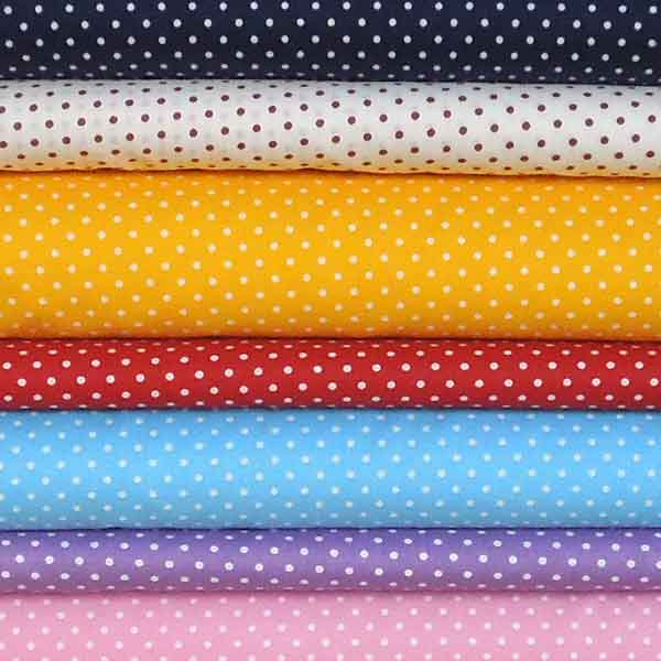 Purple Small Polka Dot Cotton Fabric, White on Purple Micro Dot Fabric