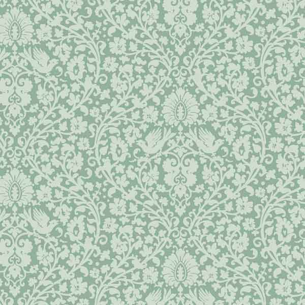 Tilda Addie Teal Cotton Fabric, Spring Lake Collection, Tilda Fabric 480806
