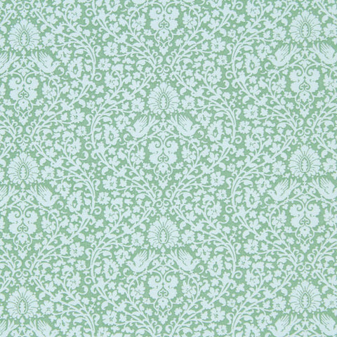 Tilda Addie Teal Fat Quarter, Spring Lake Collection, Tilda Fabric 480818